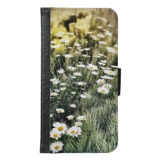 Samsung 6 Gebied van Daisy Wallet Case Samsung Galaxy S6 Portemonnee Hoesje