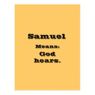 Samuel Carte Postale