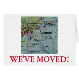 San Antonio nous avons déplacé le faire-part