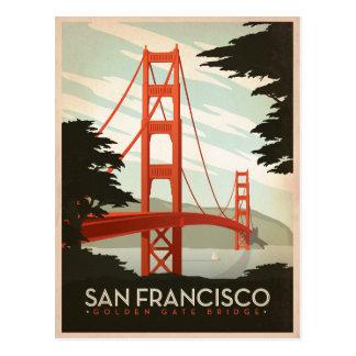 San Francisco, CA - Golden gate bridge Briefkaart
