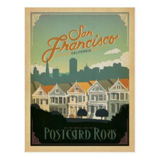 San Francisco, CA - rangée de carte postale