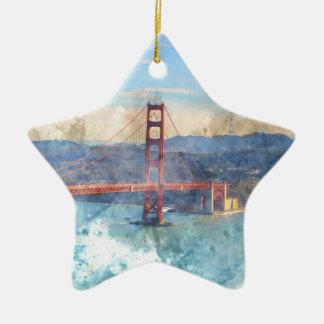 San Francisco golden gate bridge en Californie Ornement Étoile En Céramique