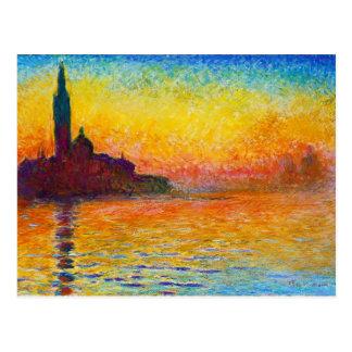 San Giorgio Maggiore au crépuscule Claude Monet Cartes Postales