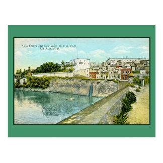 San Juan vintage, Porto Rico Carte Postale