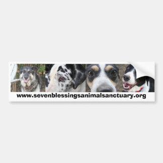 Sanctuaire d'animal de sept bénédictions autocollant de voiture