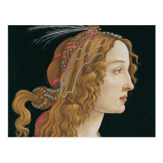 Sandro Botticelli - portrait idéalisé de Madame Carte Postale