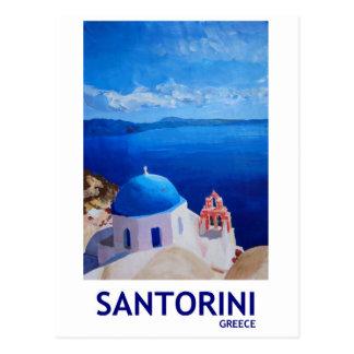 Santorini bleu, Grèce - vue d'Oia Carte Postale