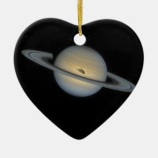 Saturn Ornement Cœur En Céramique