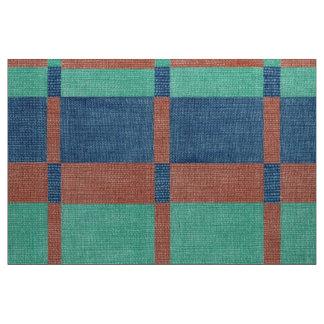 Saumon bleu turquoise de tissu de plaid de pays