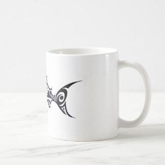 Saumon, poisson tribal mug blanc