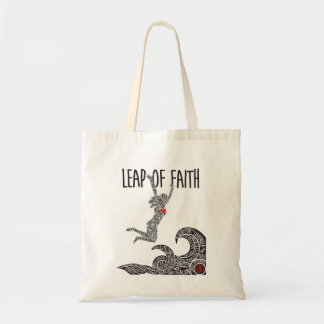 Saut de sac fourre-tout à foi avec le saut sautant