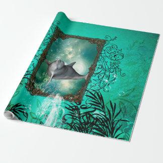 Sauter drôle de dauphin papier cadeau