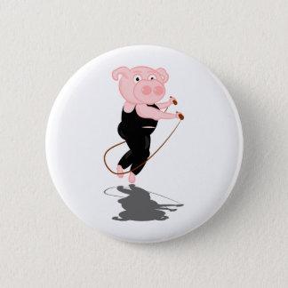 Sauter mignon de porc de bande dessinée badge rond 5 cm