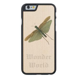 """Sauterelle """"du monde de merveille"""" - coque carved® iPhone 6 en érable"""