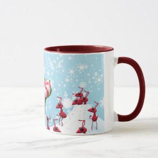 Sauterelle et Noël de fourmis Mug