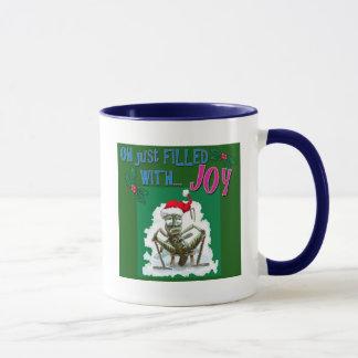 Sauterelle grincheuse avec le casquette de Noël Mug