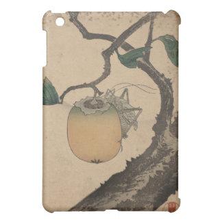 Sauterelle mangeant le kaki - Katsushika Hokusai Coque Pour iPad Mini