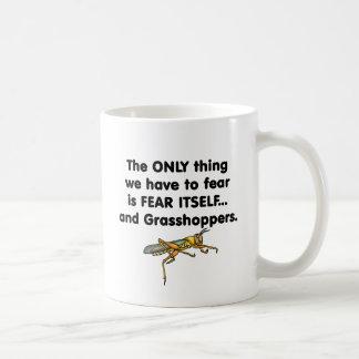 Sauterelles de la crainte elle-même mug