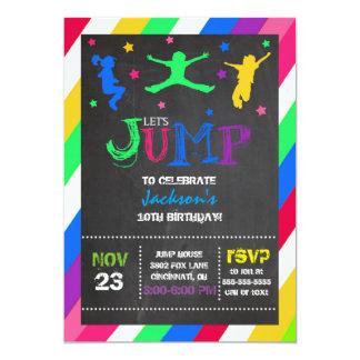 Sautez l'invitation d'anniversaire de trempoline carton d'invitation  12,7 cm x 17,78 cm