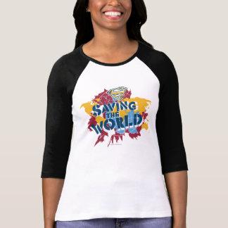 Sauvetage du monde avec la peinture t-shirt