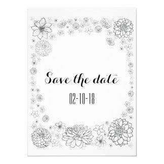 Sauvez la carte de date, mariage rustique, mariage