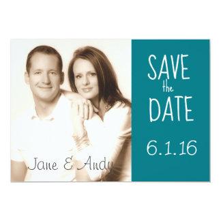 Sauvez la carte de mariage de photo de date carton d'invitation  12,7 cm x 17,78 cm