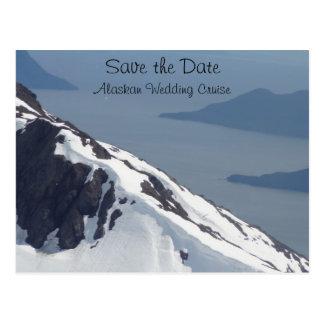 Sauvez la carte postale d'Alaska de croisière de