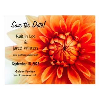 Sauvez la carte postale de fleur de date -