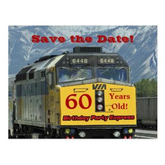 Sauvez la soixantième carte postale de célébration