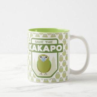 Sauvez la tasse de perroquet de Kakapo