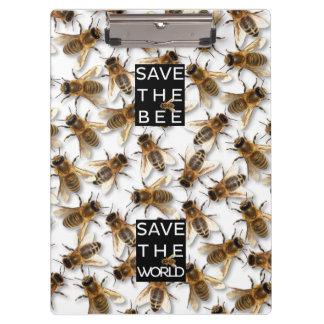 Sauvez l'abeille ! Sauvez le monde ! Abeille Porte-bloc