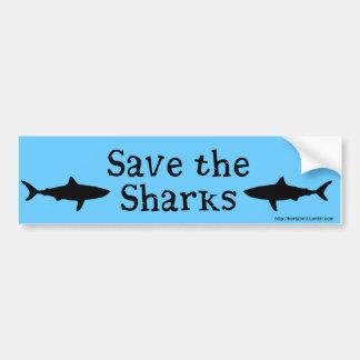 Sauvez l'adhésif pour pare-chocs de requins autocollant de voiture