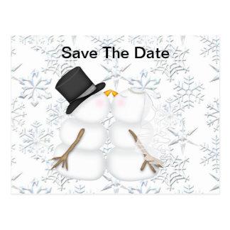 Sauvez le bonhomme de neige de JEUNE MARIÉE et de Carte Postale