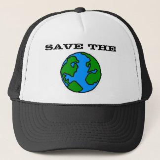 Sauvez le casquette de la terre