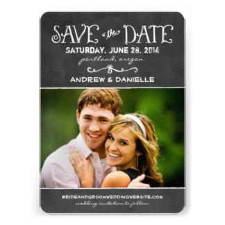 Sauvez le charme noir de tableau de la carte de da cartons d'invitation personnalisés