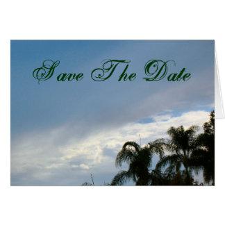 Sauvez le ciel de palmiers-dattiers carte de vœux