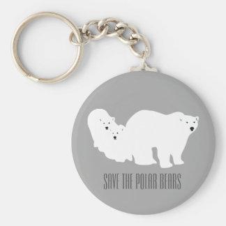 Sauvez le porte-clés gris d'ours blancs par Anna