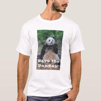 Sauvez le T-shirt de pandas géants
