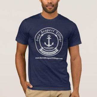 Sauvez le T-shirt de village de port maritime