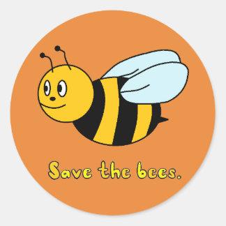 'Sauvez les abeilles Sticker Rond
