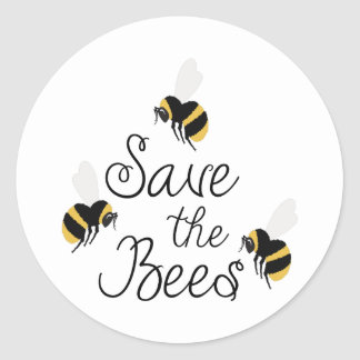 Sauvez les abeilles sticker rond