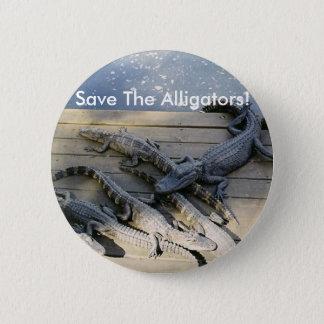 Sauvez les alligators ! Bouton Badge Rond 5 Cm