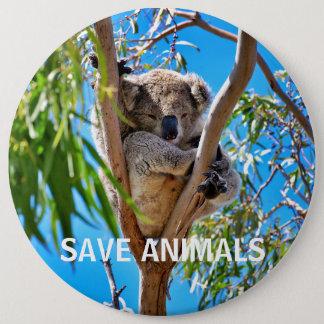 Sauvez les animaux sauvent des koala badge rond 15,2 cm
