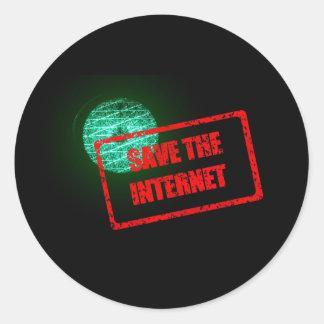 Sauvez les autocollants d'Internet