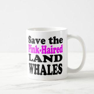 SAUVEZ les BALEINES ROSE-HAIRED de TERRE - tasse
