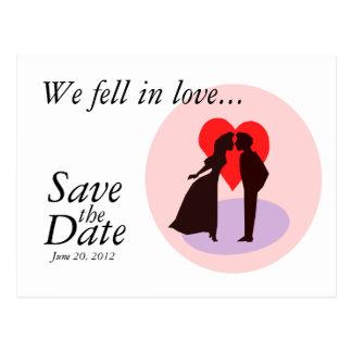 Sauvez les couples de marié de jeune mariée de car carte postale