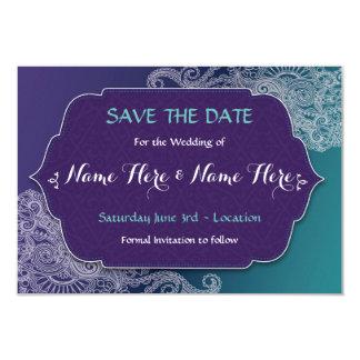 Sauvez les invitations de mariage de bijou de