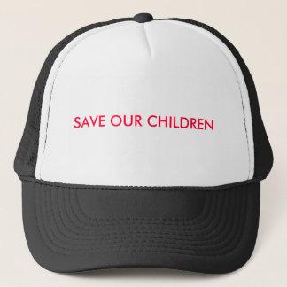 SAUVEZ NOS ENFANTS CASQUETTE
