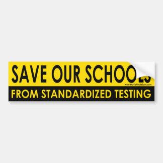 Sauvez notre autocollant de butoir d'écoles