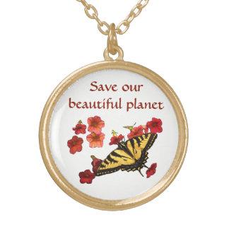 Sauvez notre collier de fleurs de papillon de